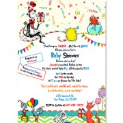Cat In The Hat Baby Shower Invitations