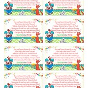 Printable Cat in the Hat Baby Shower Diaper Raffle