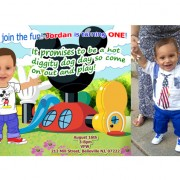 Digital Mickey Mouse Clubhouse Birthday Photo Invitations / Digital Caricature