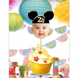 Mickey Mouse Face Cupcake Toppers