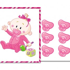 Pin the Printable Pacifier Baby Shower Game