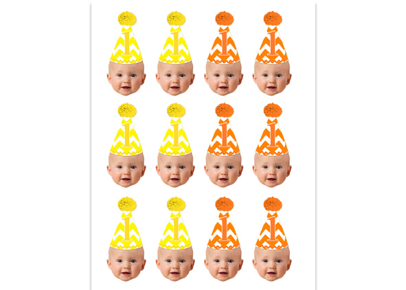 Personalized Face Cupcake Toppers