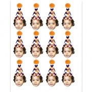 Third Birthday Cupcake Toppers