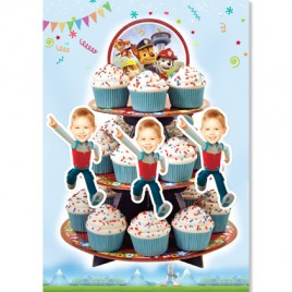 Personalized Paw Patrol Face Cupcake Toppers