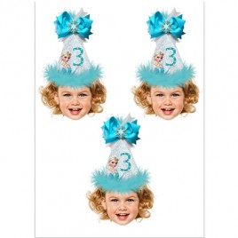 Digital Frozen Photo Cupcake Toppers