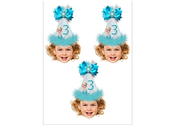 Frozen Photo Cupcake Toppers