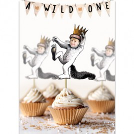 Personalized Where the Wild Things Are Cupcake Toppers