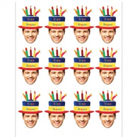 30th Birthday Photo Cupcake Toppers