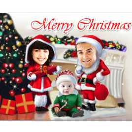 Personalized Happy Holidays Card