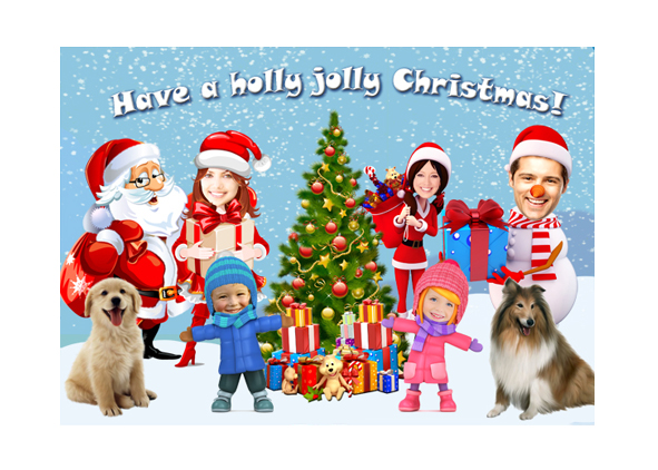 Personalized Christmas Holiday Photo Card